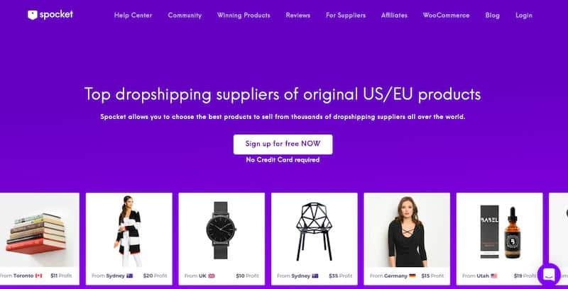 Spocket: online dropshipping marketplace