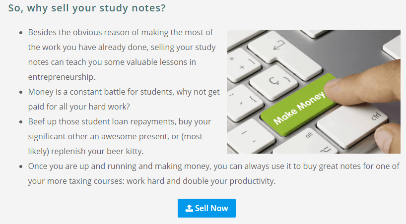 How to Sell College Study Notes